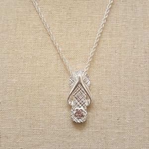 Jewelry - June Birthstone Flip Flop Necklace